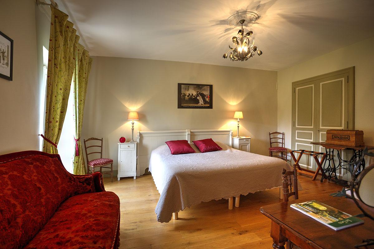 Chambre Fleurs aurore-Maison hotes de charme-Les Bruhasses-Gers1
