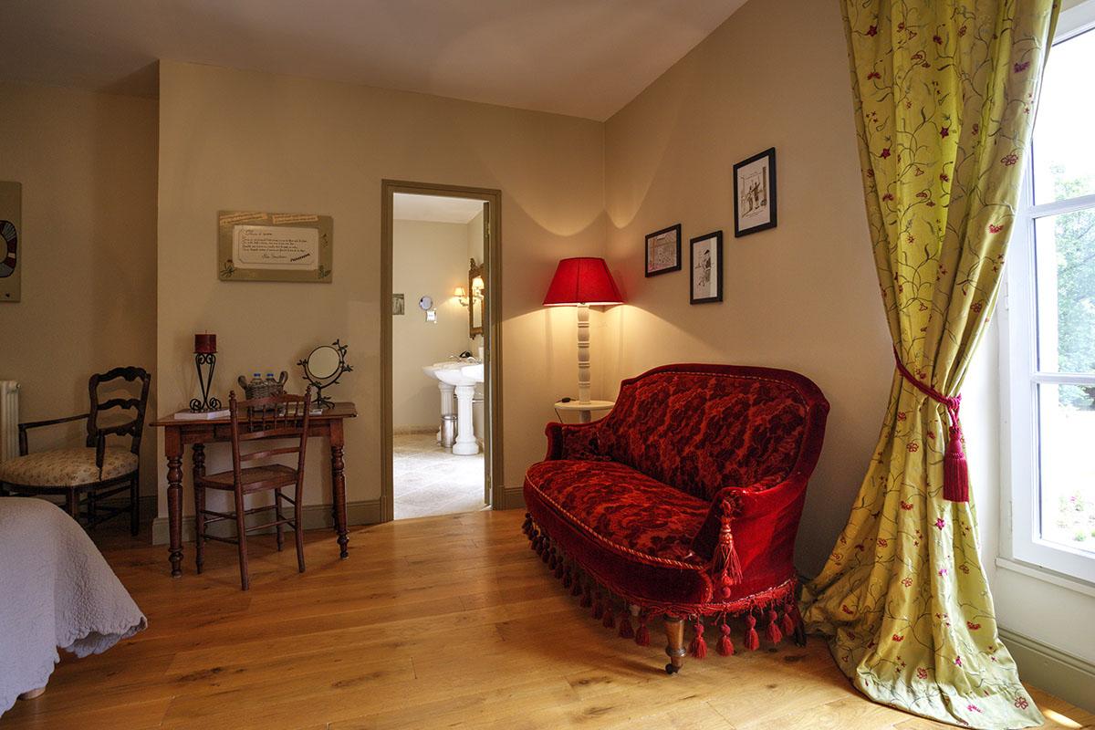 Chambre Fleurs d'aurore-Maison d'hôtes de charme-Les Bruhasses-Gers